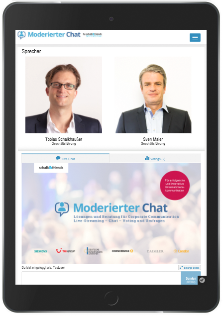Moderierter Chat Audio Chat