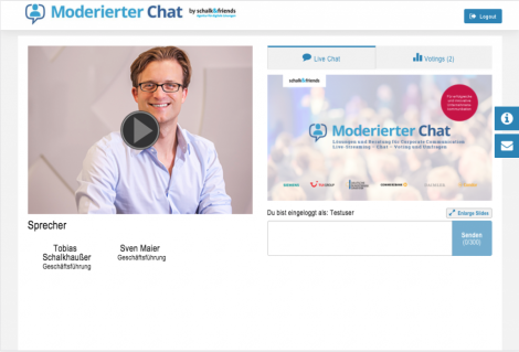 Moderierter Chat Live Chat
