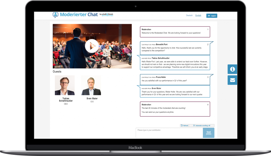 Moderated Chat webcast chat advantages