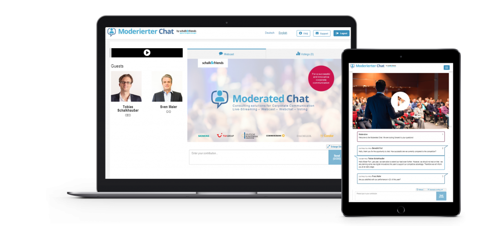 Moderated Chat webcast responsive