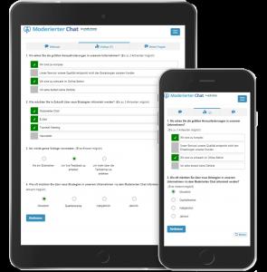 Moderierter Chat Voting Beispiel responsive