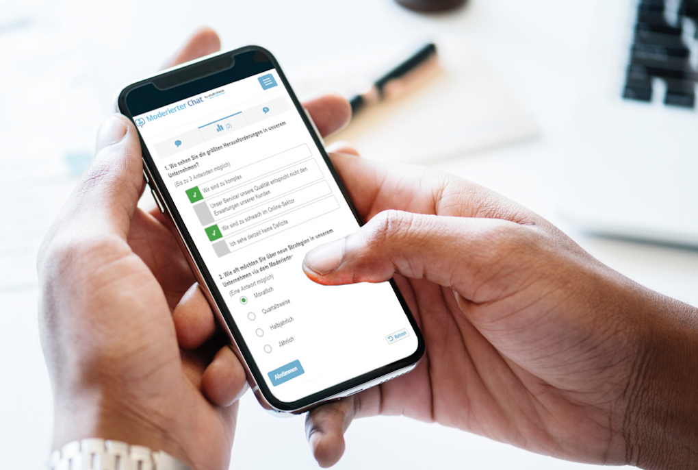 moderierter chat voting smartphone