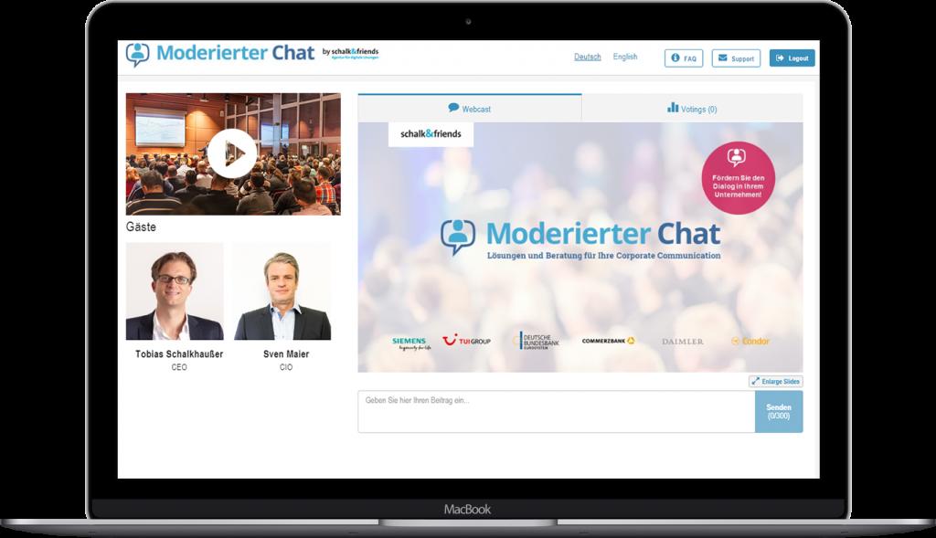 Moderierter Chat Webcast Beispiel
