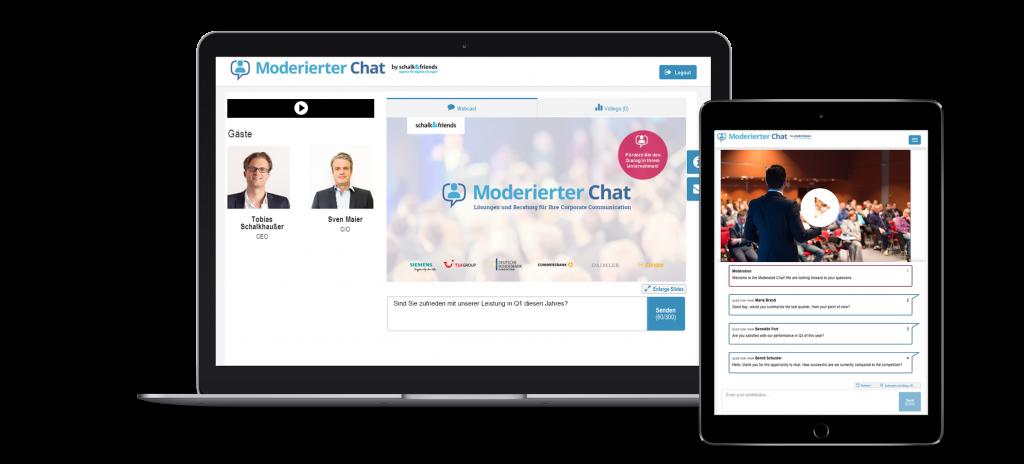 Moderierter Chat Webcast responsive