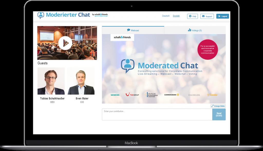 ModeratedChatwebcastpre eventexample