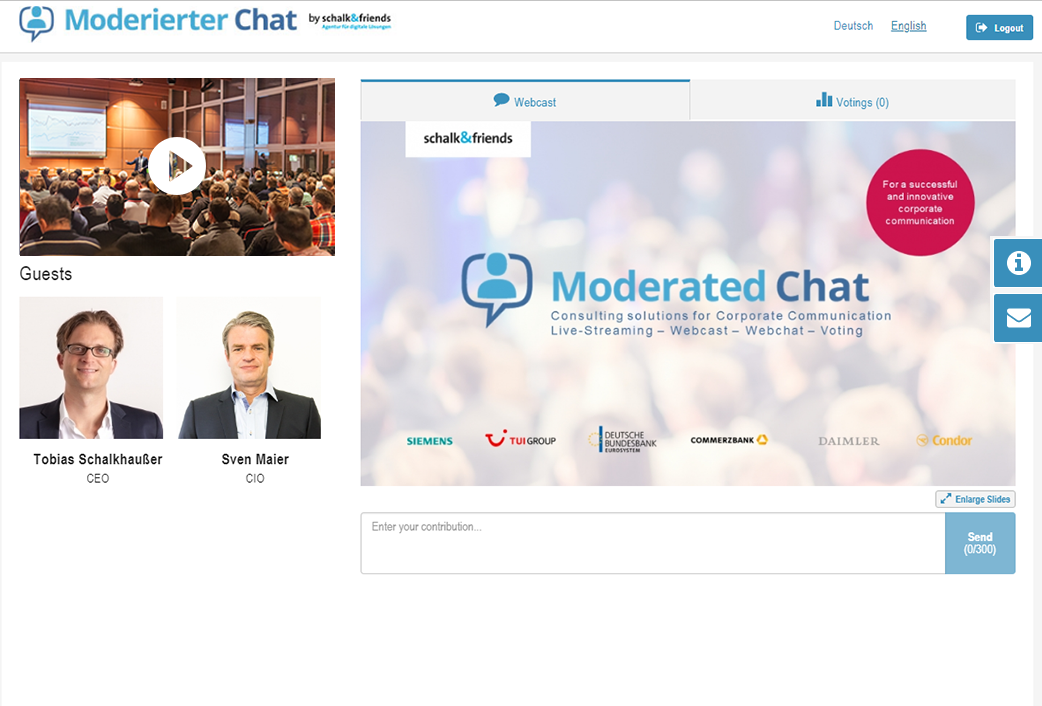 ModeratedChatwebcastpre event