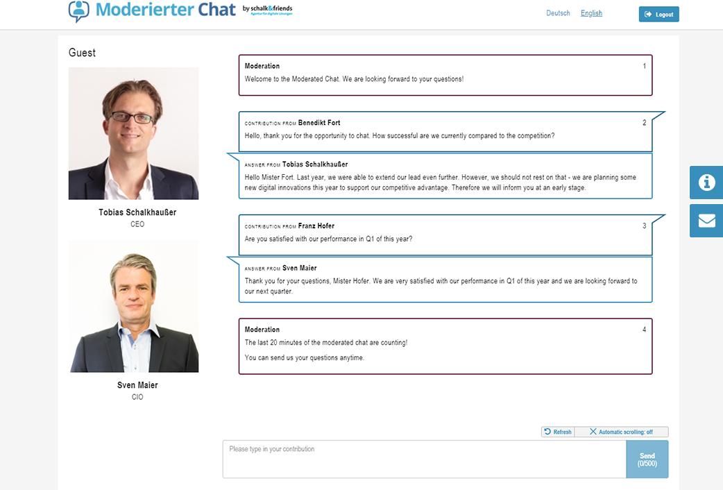 Moderated Chat webchat