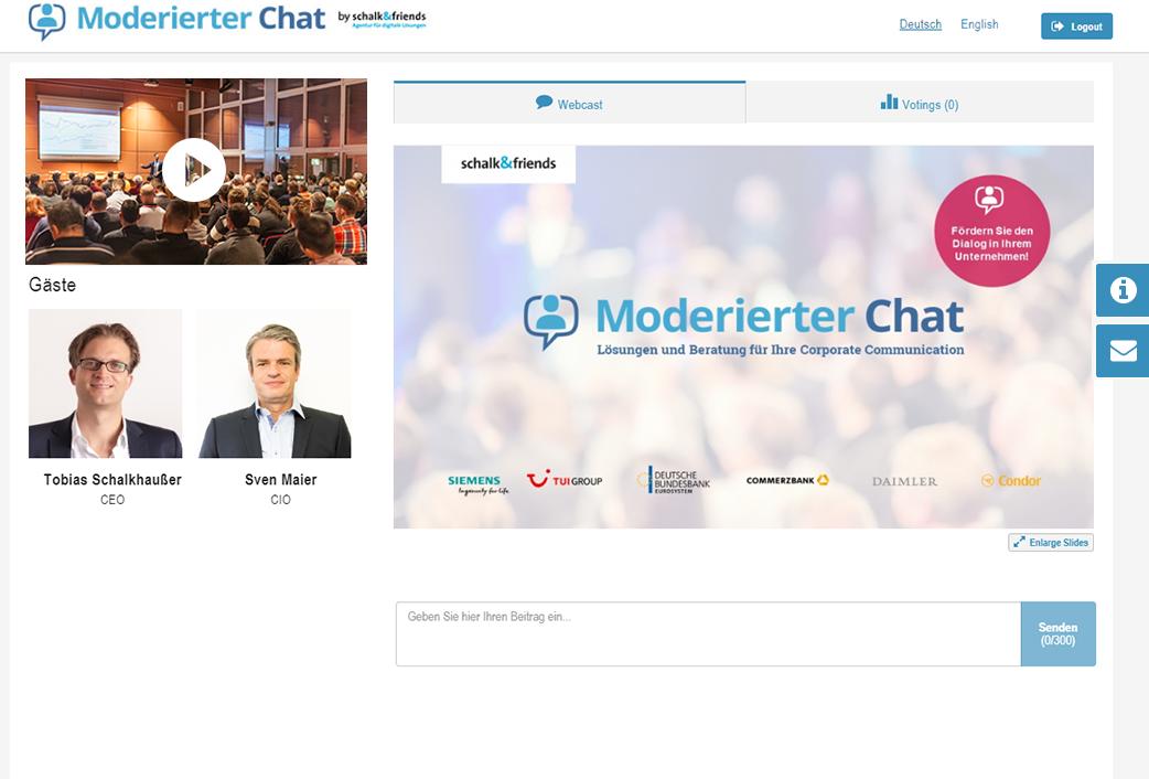 Moderierter Chat PreEvent mit PPT